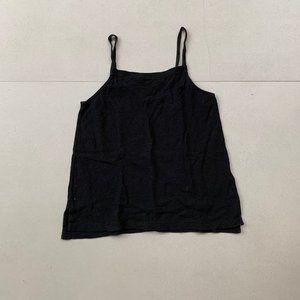 Madewell Black straight neck tank top